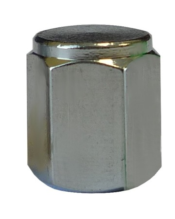 Chrome Flat Valve Caps - pack of 100