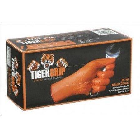 Tiger Grip Orange Nitrile Gloves - XL (box 90pcs)