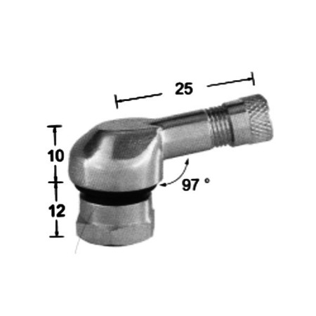 Zawór ALU kątowy motocyklowy skręcany 11.3mm